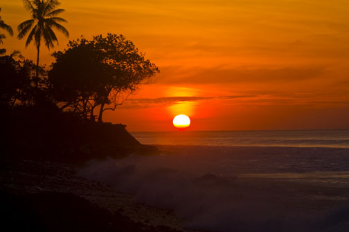 Sunset in Bali, copyright David Pu'u