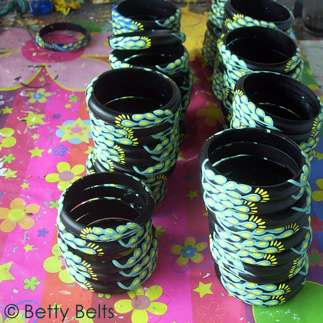 These Hobie Bohemian Bangles have a few more layers to go before they are finished, but they already look really cool!