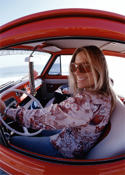 Me in the Betty Bus, an old favorite from the image vault. She now lives with some friends who provide her with a  comfy garage and more care and maintenance than I was able to provide. But she was with us for five adventurous and fun years.    © David Pu'u