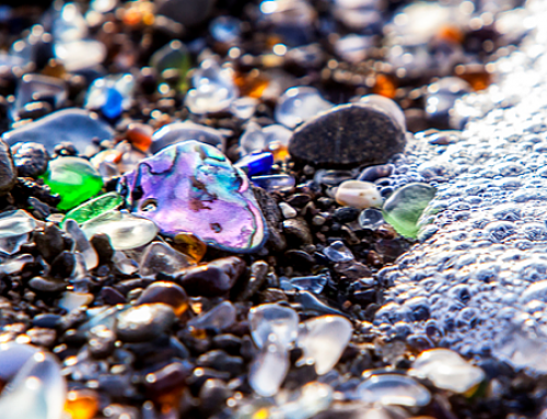 Upcyclers Sea Glass and Surfboard Resin Clips