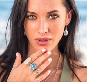Betty Belts Model sea glass jewelry