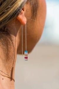 upcycle surfite earrings
