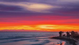 ocean inspired sunset