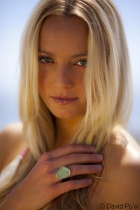 Hailey Partridge and Betty Belts Sea Glass ring
