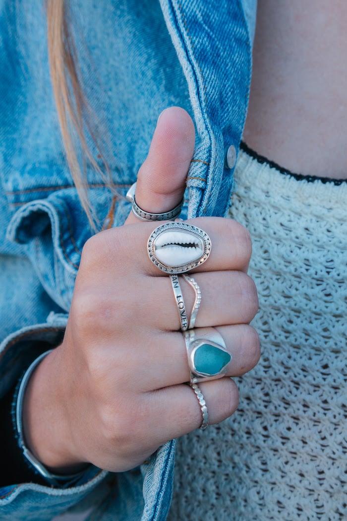 Betty Belts Sterling Silver Rings