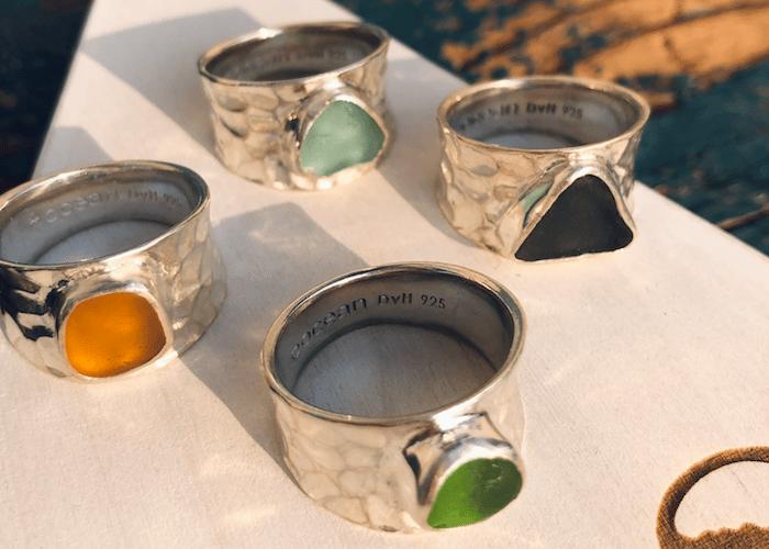 Betty Belts Sea Glass Rings (OFFSHORE)